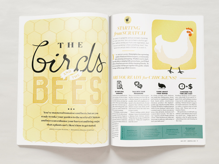 The Birds and the Bees intro spread