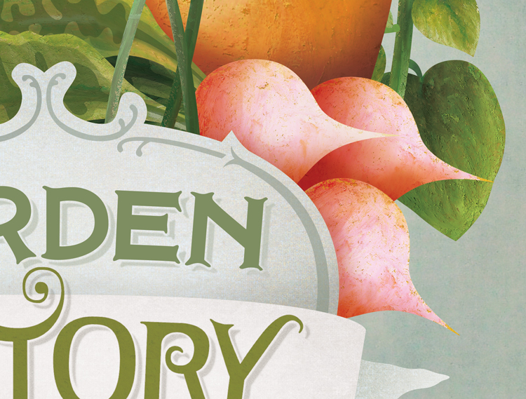 cover detail of radishes