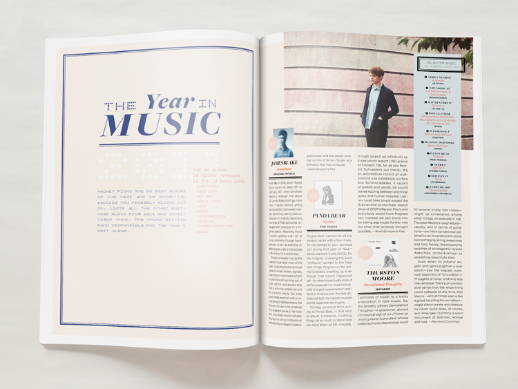 Year in Music Opening Spread - Melissa McFeeters