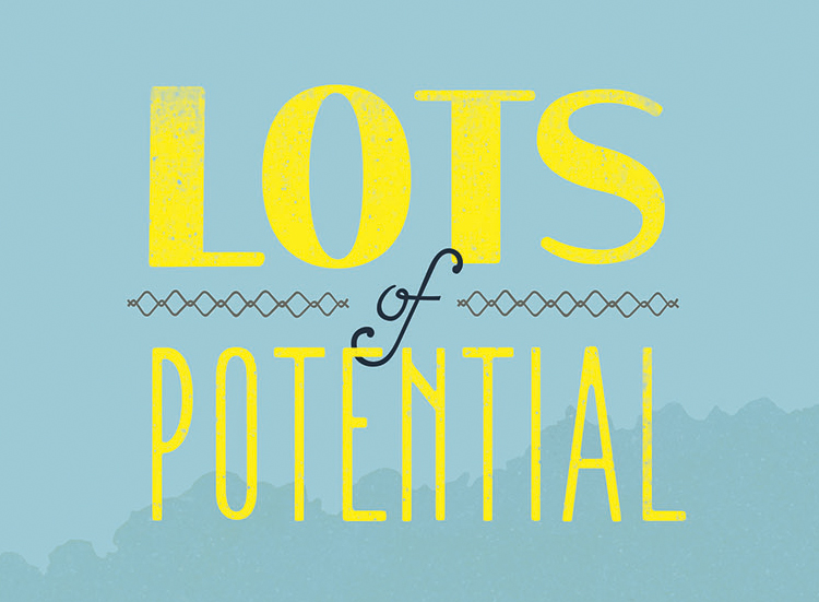 Lots of Potential - Lettering - Melissa McFeeters