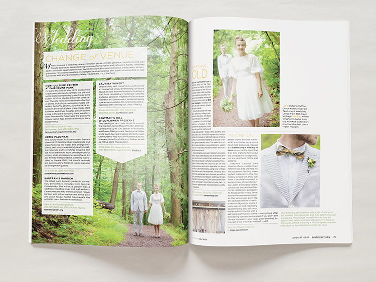 The Wedding Issue - Layout Design - Melissa McFeeters